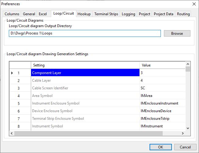 Instrument Manager Customisation Loop Preferences